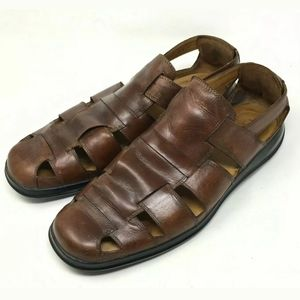 Cole Haan Brown Leather Fisherman Sandals 11M